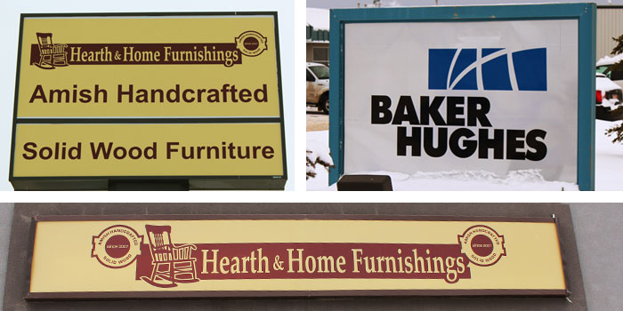 Store Front and Backlit Signs Photo